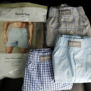 3 Classic Woven Boxers, Goodfellow & Co, Tag Free